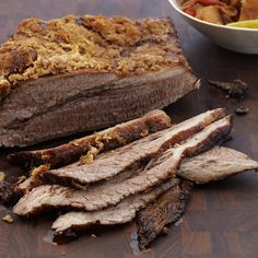 Gail Simmons's Horseradish Brisket | Rubbing prepared horseradish on the brisket and whisking it into the meaty sauce punches up the rich flavors here. Like most braised dishes, this brisket tastes better on the second or even third day.