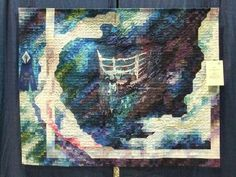 """One Hundred Years at Rest,"" made in 2012 to commemorate the anniversary of the HMS Titanic.  1st place Large Art Quilt Jacksonville Quiltfest."