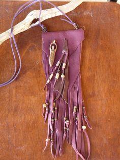 Tribal Leather Medicine Bag  Spirit Pouch  by GoddessesUnlimited, $75.00 #medicinebag #nativeamerican