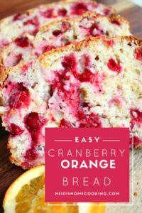 This recipe for easy cranberry orange bread is very versatile because it can be made as an entire loaf, into regular muffins, or even mini muffins. It's one of the prettiest and best desserts you can serve at brunch or give your friends as a gift. The recipe is simple yet the bread stays moist and flavorful. This bread is great for Thanksgiving and Christmas!