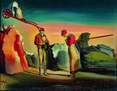 """1976 Vintage SALVADOR DALI /""""VIOLONCELLIST RICARDO PICHOT/"""" Color Art Lithograph"""