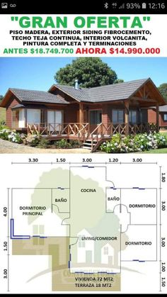 Wooden House Design, Bamboo House Design, Simple House Design, Bungalow House Plans, Bungalow House Design, Small House Plans, House Roof, Facade House, Affordable House Plans