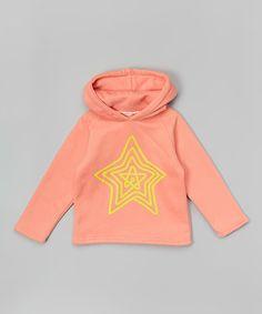 Look what I found on #zulily! Pink & Yellow Star Hoodie - Infant, Toddler & Girls #zulilyfinds