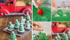 Chocolate-Covered-Strawberry-Christmas-Trees -DIY Recipe-1