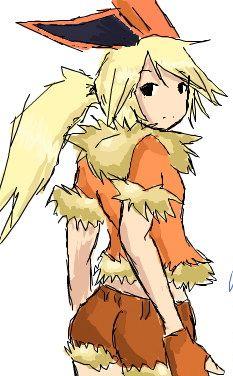 Flareon Gijinka by FalconX-Daiki.deviantart.com on @deviantART