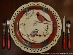 Tartan Dishware: Mix & Match Patterns To Create 17 Unique Tartan Place Settings  Better Homes and Garden Plates from Walmart