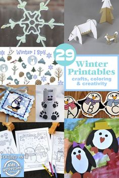 These winter printables for kids help make exploring all the magic of winter fun and filled with learning! Winter Activities For Kids, Winter Crafts For Kids, Winter Kids, Christmas Activities, Preschool Crafts, Preschool Activities, Kids Crafts, Preschool Winter, Family Crafts