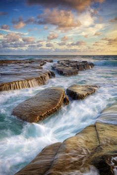 La Jolla, California  ...the smooth rocks with the channels filled as the tide rolls in... simply beautiful to watch~ ~*~moonmistgirl~*~