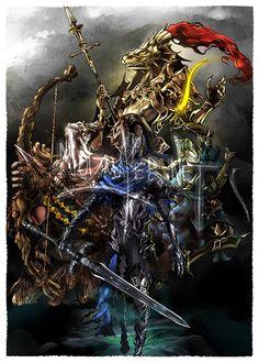 dark souls ornstein | Dark Souls: The 4 Knights of Gwyn from Illustrations by Donna B. on ...