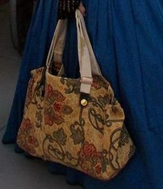 45a24f99385 Pattern For Carpet Bag Victorian Shabby Chic Mary Poppins Style