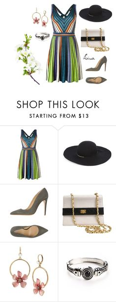 """Spring Hat"" by coolmommy44 ❤ liked on Polyvore featuring M Missoni, Eugenia Kim, Armani Collezioni, Chanel and Betsey Johnson"