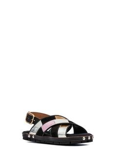 Sandal in patchwork baby calf