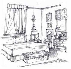 Ready to render... Michael Hampton Design Interior Design Sketches ...