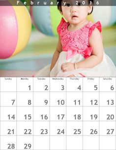 Create monthly calendars from your photographs. Three different printable styles.