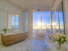 """floor Shangri-La Hotel Vancouver Penthouse Bathroom [[MORE]] """"More pictures here (but its unfurnished):. Interior And Exterior, Interior Design, Interior Ideas, Penthouse For Sale, Simply Home, Shangri La Hotel, Condo Living, Living Room, Pent House"""