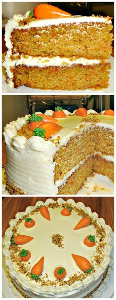 Classic Carrot Cake #carrotcake #cakerecipes #classiccakes Tea Cakes, Cupcake Cakes, Cake Pops, Disney Thanksgiving, Cookie Recipes, Dessert Recipes, Pecan Cake, Carrot Cakes, Decadent Cakes