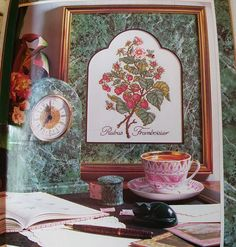 Complete instructions for 32 great projects charted for counted cross stitch  Botanical strawberry Dinosaurs Evenweave - Autumn Wreath Cow Sampler Designer John Ohler - Grocery Family tree sampler Baby quilt Nesting hens Doll house Miniatures Shepherd Sheep Donkey Herb sampler