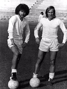 Real Madrid's Paul Breitner & Gunter Netzer 1970's