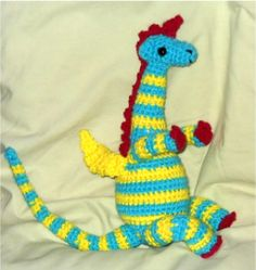 My Father's Dragon a crochet of the novel study I am working on with the class. I want to make this