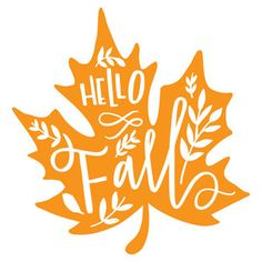 Silhouette Design Store: Hello Fall Leaf - Fall Shirts - Ideas of Fall Shirts - Leaf Silhouette, Silhouette Design, Silhouette Cameo, Vinyl Crafts, Vinyl Projects, Paper Crafts, Cricut Creations, Hello Autumn, Fall Diy