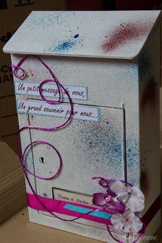 Boite aux lettres servant de livre d'or original#livredor #mariage #wedding