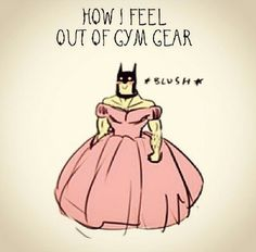 """How I feel outside my gym clothes."" #Fitness #Humour"
