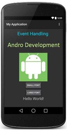 android event handling