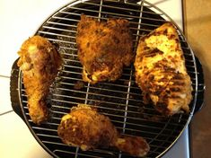 "If you love fried chicken but need it ""lighter"", then try this recipe. It's a great balance of healthy and flavor. Look forward to hearing comments on how to make it better! Halogen Oven Recipes, Convection Oven Recipes, Nuwave Oven Recipes, Convection Cooking, Grill Recipes, Oven Fried Chicken, Fried Chicken Recipes, Nuwave Chicken, Glazed Chicken"
