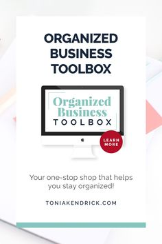 Are you overwhelmed by everything you need to keep track of for your business? The Organized Business Toolbox is your one-stop shop that helps you stay organized so that you feel more in control of your business. Business Goals, Business Management, Business Tips, Online Business, Small Business Organization, Finance Organization, Block Scheduling, 90 Day Plan, Business Operations