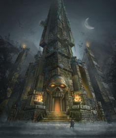 Skull Temple by lukkar on DeviantArt