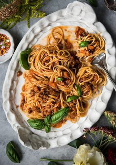 A hearty and delicious meat ragu that is LOADED with veggies.  Perfect to serve over spaghetti, chickpea pasta (for gluten-free meals) or used in lasagna.