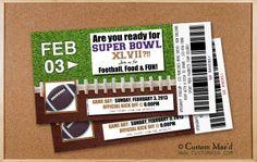 Super Bowl Party Invitations 2011