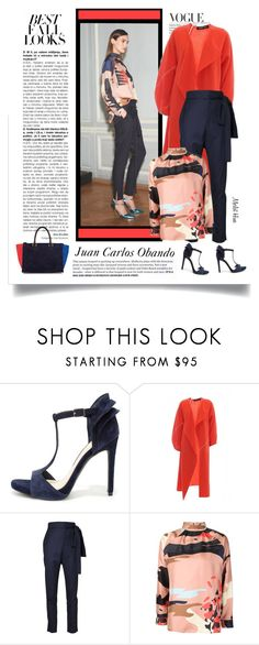 """""""Juan Carlos Obando FW 2015 RTW"""" by merlothues ❤ liked on Polyvore featuring mode, H&M, Juan Carlos Obando, Jessica Simpson en Clare V."""