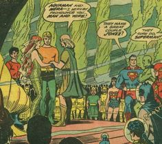 The Wedding of Aquaman and Mera with the JLA and Aqualad, Aquaman #18, art by Nick Cardy