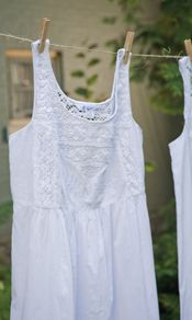 Annie Ladies Nighty - The classic 'Annie' nightgown is a romantic creation replete with exquisite vintage details. Made of our pure cotton, sleeveless and falling to the knee, the 'Annie' features crochet lace at the front and back yoke, the back bodice and the hemline. http://www.aprilcornell.com/product/Annie-Ladies-Nighty-NTA5264W-White/nightwear