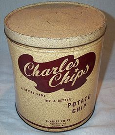 I loved Charles Chips!! We would get so excited to see the truck. Would love to find one of these tins.
