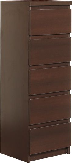 Pello 5 Drawer Narrow Chest in Dark Mahogany is a simple and elegant range with…