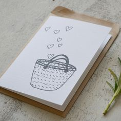 Mini Card - Basket Of Love