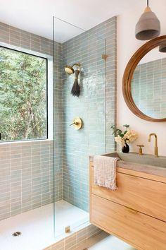 Bad Inspiration, Bathroom Inspiration, Home Decor Inspiration, Decor Ideas, Dining Room Inspiration, Apartment Inspiration, Bathroom Renos, Wood Bathroom, Remodled Bathrooms