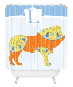 Look what I found on #zulily! Blue Lion 'L' Shower Curtain by DENY Designs #zulilyfinds