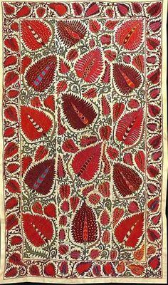 strawberry design Uzbek Suzani