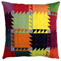 Red pepper quilts  Striking pillow!