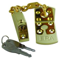 Era Door Chain Lockable Polished Brass - door hardware accessories - door chains - ERA Door  sc 1 st  Pinterest : banham door furniture - pezcame.com