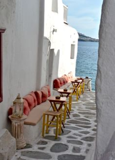 Mykonos, Greece, informal gathering to watch the sun set. Love this and dying to go back! Oh The Places You'll Go, Places To Travel, Places Ive Been, Places To Visit, Mykonos Island, Mykonos Greece, Santorini, Beautiful World, Beautiful Places