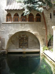 Pool...would be beautiful to have a fountain within arched area...