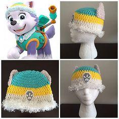 Paw Patrol Everest Husky Winter Beanie Hat /& Gloves Set Girls Childrens Kids