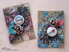 Mary's Crafty Moments: ''Summer'' - GD ATC's for Cuts2luv
