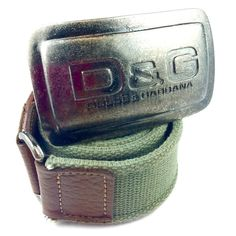 Dolce & Gabbana belt Awesome Dolce & Gabbana belt in great condition! Distressed silver belt buckle. Brown and black leather features on belt. Green fabric strap. Can be worn by men or women, its definitely unisex. Dolce & Gabbana Accessories Belts