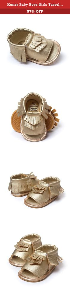 9538748ab Kuner Baby Boys Girls Tassel Soft Sole Anti-Slip Summer Prewalker Sandals  First Walkers (