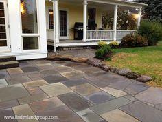 Dimensional bluestone patio in #middlebury #vt